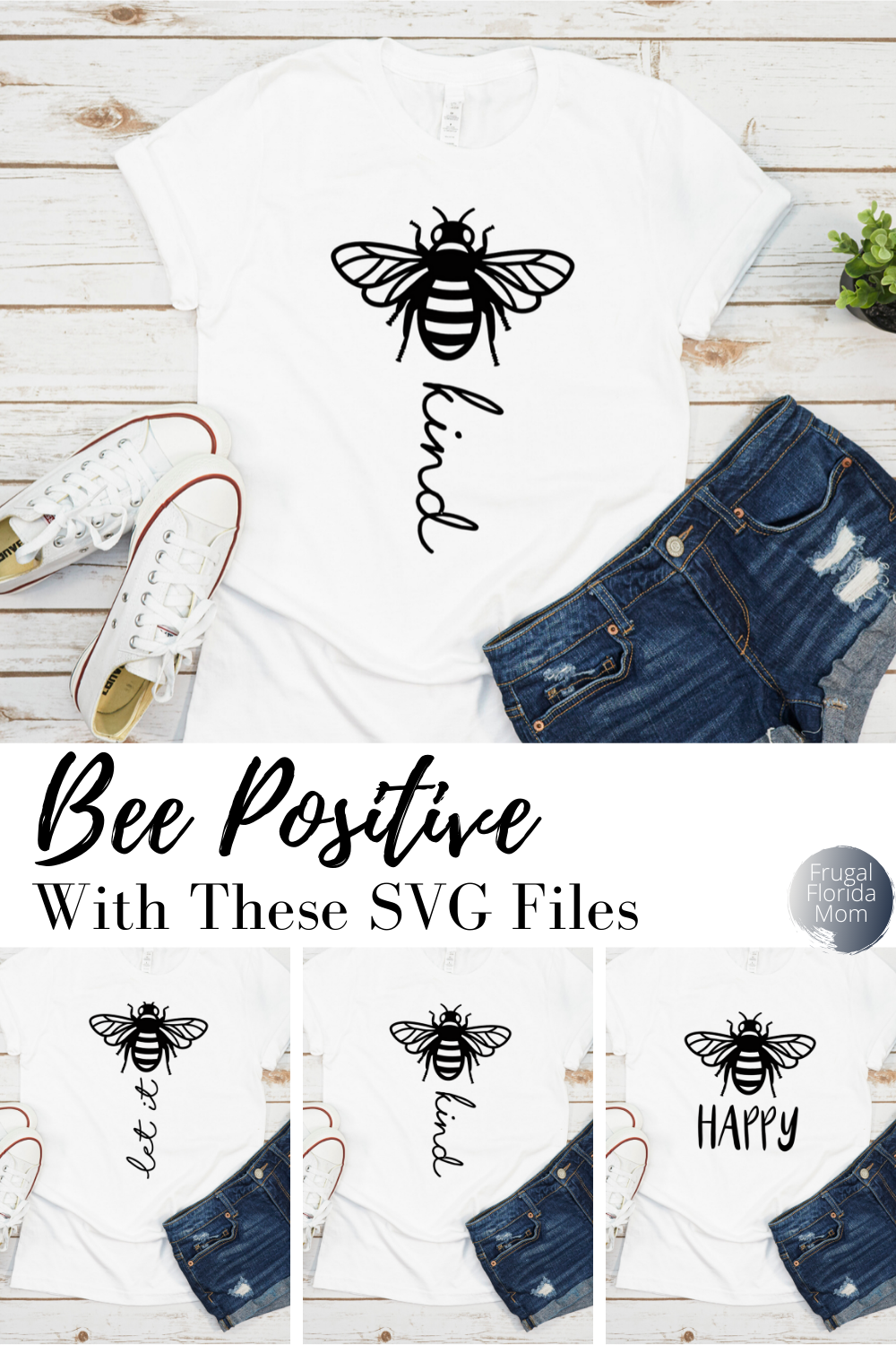 Bee Positive SVG Files